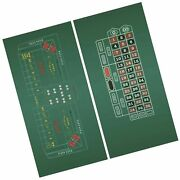 Craps And Roulette 2-sided Casino Felt Layout