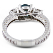 1 1/2ct Blue Si1 Round Natural Certified Diamonds 18k Classic Engagement Ring