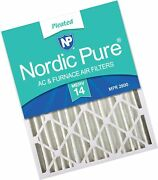 Nordic Pure 16x25x4 Merv 14 Pleated Ac Furnace Air Filters 2 Pack