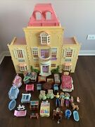 Fp Fisher Price Loving Family Twin Time Dollhouse Doll House Huge Lot Loaded