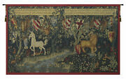 Les Chevaliers De La Table Ronde French Unicorn Myth Tapestry Wall Hanging