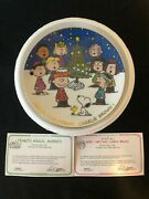 Peanuts Magical Moments Danbury Mint Merry Christmas, Charlie Brown Plate