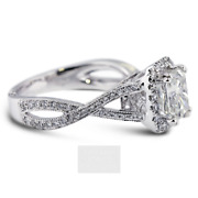 1.66ct F-si1 Cushion Earth Mined Certified Diamonds 18k Halo Side-stone Ring