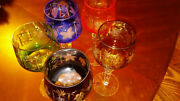 Bohemia Vintage Multicolor Crystal Wine Glasses Set Of 5 Check It Out