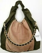 🌞beandd New York Cosette Stamped Croc Leather Large Taupe Shoulder Tote Bag🌺nwt