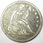 1842 Seated Liberty Silver Dollar 1 - Xf Details Ef - Rare Early Coin