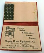 Maytag Home Equipment Co Needles Washers Vintage Business Advertising Denver Co