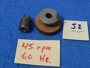 Wurlitzer 1015 1080 1100 1080a Mechanism Turntable Drive And Worm Gears - 45rpm