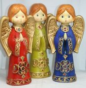 Set Of 3 1960s Ardco Praying Angels 11 Tall Figurines Made In Japan J296