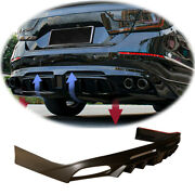 Unfinished For Honda Accord 2018-2020 Rear Bumper Diffuser Spoiler With Lights