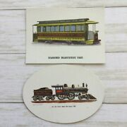Clarence Hornung Closed Electric Car And Richard Schlemmer New York Central Cards