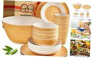 Bamboo Dinnerware Sets For 4 – Great Quality And Durable W/beautiful Bamboo