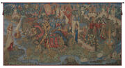 Legend Of King Arthur French Tapestry Wall Art Hanging Decor New 35x66 Inch