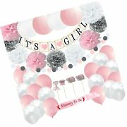 Girl Baby Shower Decorations Set   It's A Girl Banner   Party Paper Lanterns ...
