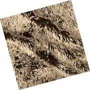Shannon Fabrics Minky Frosted Shaggy Cuddle Fabric By The Yard, Brown/beige