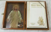 A White Vintage 1976 The Holy Bible Protestant Edition With Wood Box