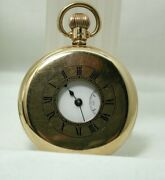 1920and039s Antique 9 Carat Gold Waltham Demi Hunter Pocket Watch