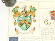 1811 Illuminated Grant Of Arms 2 Seals Rev John Kirby Mayfield Sussex Read All