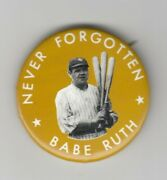 Babe Ruth Photo Pin Backed Button New York Yankees