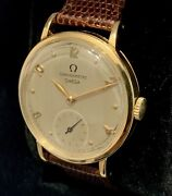 Omega Chronometre Small Second 18k Gold Manual Vintage Watch 1940andrsquos Clean