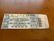 2015 Ncaa Championship Midwest Full Basketball Ticket Maryland Terrapins
