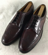 Florsheim Royal Imperial Shell Cordovan Burgundy Wingtips V Cleat 97626 Size 12c