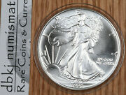 1991 Silver American Eagle 1 - Bu - Brilliant Uncirculated - In Capsule -