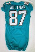 87 Damarr Aultman Of Dolphins Nfl Locker Room Game Issued Jersey W50th Patch