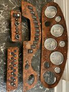 Rinker 342 Gauge And Switch Panels Including Faria Gauges- All Brand New
