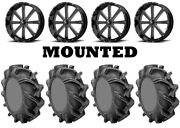 Kit 4 High Lifter Outlaw 3 Tires 44x9.5-24 On Msa M34 Flash Black Wheels Can