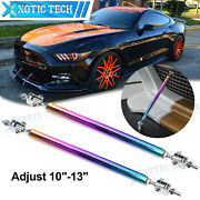 2x Adjustable Neo Bumper Lip Strut Rod Support Bar For Ford Mustang 2000-2021