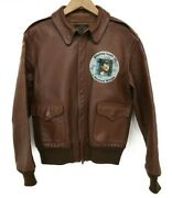 The Real Mccoy's Auth Donald Duck A-2 Flight Jacket Brown 40 Used From Japan