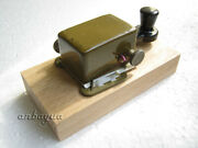 Wood Stand For Small Morse Telegraph Straight Key From Exussr Army