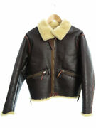 The Real Mccoyand039s Auth D-1 Leather Flight Jacket Dark Brown Xs Used From Japan