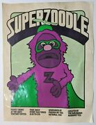 Rare Vintage Superzoodle National Zoo Puppet Show Bob Brown Marionettes Poster