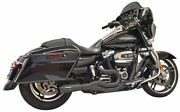 Bassani Road Rage Iii 2-1 Mid 4 Exhaust System Black Harley M8 Bagger 17-up