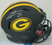Packers Charles Woodson Signed Full Size Authentic Eclipse Helmet Auto - Fan
