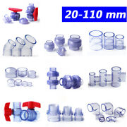 Clear Pvc Pipe Adhesive Fittings Sleeves Union Bend Tee Elbow Ball Valve Caps