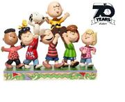 Snoopy Peanuts 70th Anniversary Model Figure Set Gang Caracter Toy Limited New