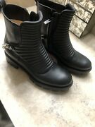 2021 Christian Louboutin Maddic Max Chain Combat Boots Booties Size 7 1495