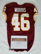 46 Alfred Morris Of Redskins Nfl Game Worn And Unwashed Jersey Vs Giants With Coa