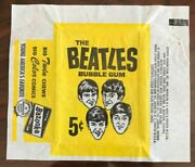 Empty Pack Wax Wrapper1964 Topps The Beatles Black And Whiteno Tears Or Rips