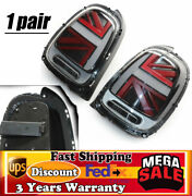 For 14-18 Mini Cooper F55 F56 Mk3 Led Tail Lights Brake Rear Lamps Lhandrh Set Abs