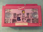 Barbie Special Collection Rare Blue Dining Out Playset Mib