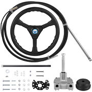 Vevor Rotary Steering Kit Boat Steering System 8 Ft Cable Fish Boats Helm Kit