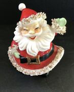 Fabulous Rare And Vintage Santa Claus Napkin Doll Man-toothpick Holes In Hat