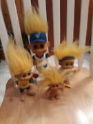 Russ Collectible - Bobblehead Brewers Packer Trolls Lot Of 4