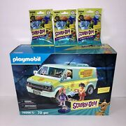 New Playmobil Scooby-doo Mystery Machine 70286 With 3 Ghost Blind Bags 70288