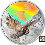 2019 'great Horned Owls-majestic Birds In Motion'prf 30 Fine Silver Coin18790