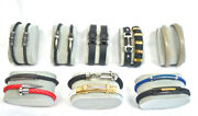 16 Men's Leather Stainless Steel Nail Cuff Bracelets Wholesale Lot For Boutiques
